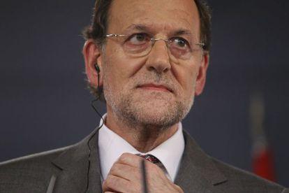 Mariano Rajoy, ayer durante una rueda de prensa