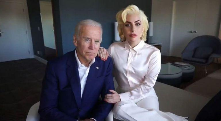 Lady Gaga, en una imagen de un vídeo de apoyo a Joe Biden.