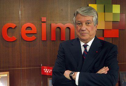 El presidente de los empresarios madrileños, Arturo Fernández.