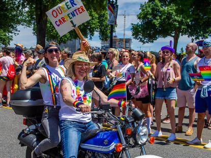 Manifestación del Orgullo en Portland (Oregón, EE UU), el pasado 16 de junio.