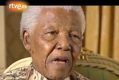 Captura del reportaje de <i>En portada</i> dedicado a Nelson Mandela.