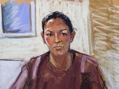 Ghislaine Maxwell, durante una audiencia frente al tribunal de Manhattan, el pasado 14 de julio.