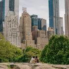 15 Mayo de 2021 - Reportaje sobre Nueva York. Rascacielos del Midtown vistos desde Central Park, el pulmón verde de Manhattan (Nueva York).  © Cole Wilson