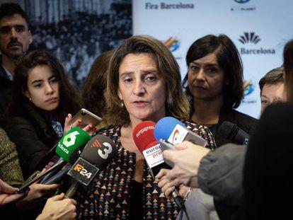 Teresa Ribera, en Barcelona.