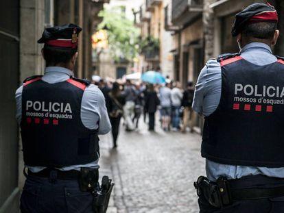 Una patrulla de los Mossos d'Esquadra.