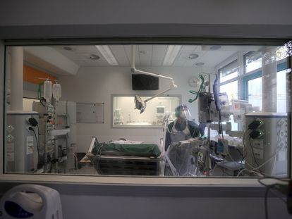 Imagen de una unidad de cuidados intensivos en Essen, al oeste de Alemania esta semana.