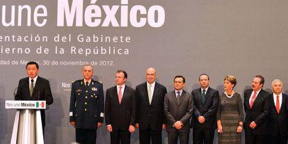 Presentación del nuevo equipo de Gobierno de México.
