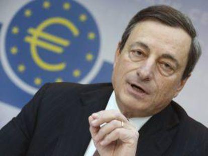 El presidente del Banco Central Europeo (BCE), Mario Draghi. EFE/Archivo