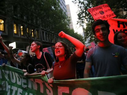 Manifestación contra la falta de medidas frente al cambio climático, en Sídney (Australia), en enero.
