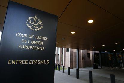Entrada al Tribunal de Justicia de la UE el 19 en diciembre de 2020.