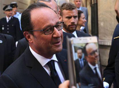 El presidente Hollande el viernes en Evian.