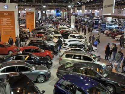 Automóviles expuestos en Ifema durante el Salón del Vehículo de Ocasión.