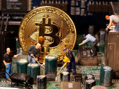 El símbolo del bitcoin, la criptomoneda más valorada del mercado.