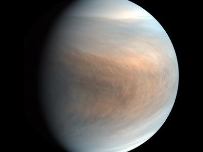 Una imagen de Venus tomada por la sonda japonesa 'Akatsuki'.