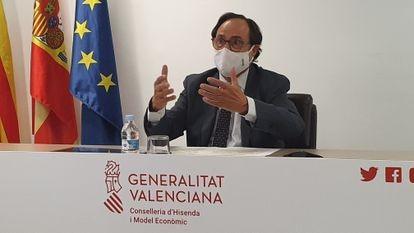 El consejero de Hacienda de la Generalitat valenciana, Vicent Soler.