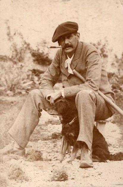 Benito Pérez Galdós, en su última visita a Gran Canaria, en 1894.
