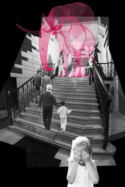 Arriba, proyecto de Gonzalo Pardo y Marta López para el vestíbulo.