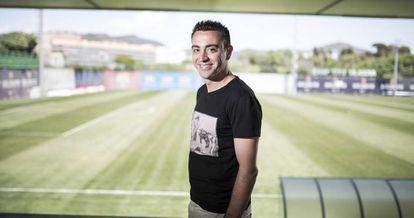 Xavi Hernández, en la Ciudad Deportiva del Barça.