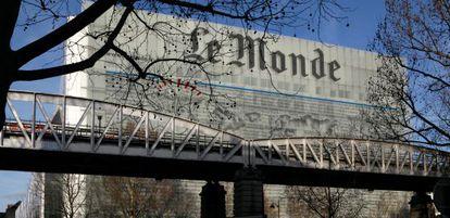 La fachada de 'Le Monde', inspirada en la cabecera del diario.