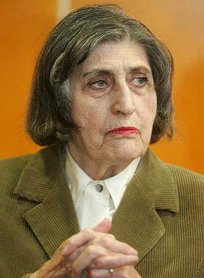 Edith Aron, ayer en Madrid.