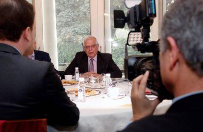 El ministro de Exteriores, Josep Borrell, en Nueva Delhi (India) este lunes.