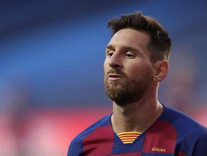 Messi, tras el partido del 14 de agosto entre el Barça y el Bayern.