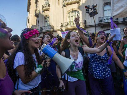 Manifestación feminista en Buenos Aires, Argentina.