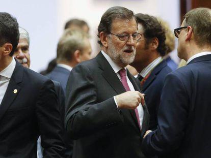 Mariano Rajoy en el Consejo Europeo, en Bruselas.