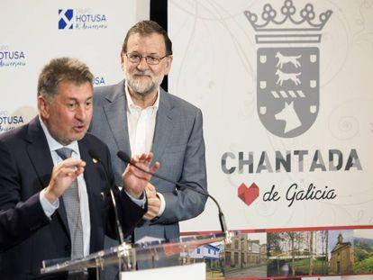 Mariano Rajoy el presidente del grupo hotelero, Amancio López Seijas.