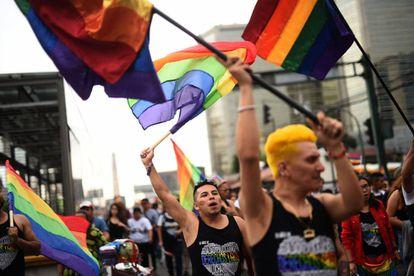 Miles de guatemaltecos participaron en la marcha LGTBI, el 23 de junio de 2018.