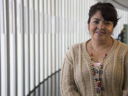 La senadora Nestora Salgado, del Movimiento de Regeneración Nacional (Morena).
