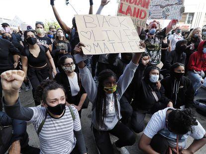 Manifestación en San Francisco el pasado 30 de mayo en protesta por la muerte de George Floyd en Minneapolis.