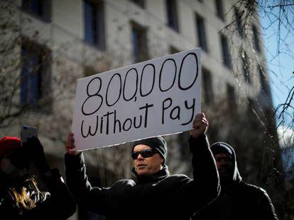 Protestas en Washington contra el bloqueo.