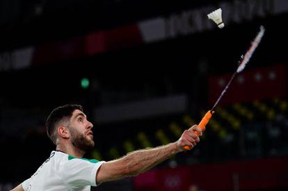 Aram Mahmoud, durante un partido en Tokio.