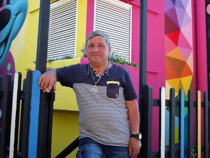 El activista Jose Luis Campo en Leganés hace unas semanas.