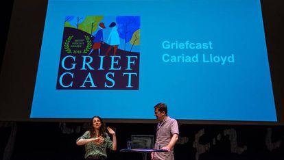 Cariad Lloyd durante las jornadas de Radiodays Europe Podcast.