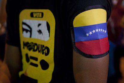 Seguidores del candidato presidencial Nicolás Maduro.