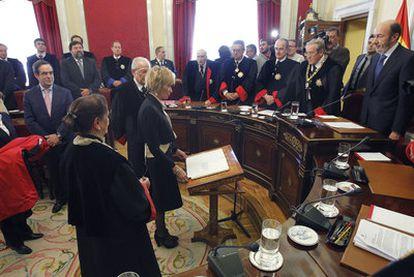 María Teresa Fernández de la Vega, en su toma de posesión como consejera de Estado.