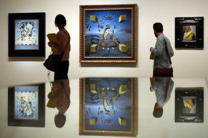 'Gala Placidia' (1952), 'Galatea en creación' (1954) y 'Gala mirando el Cristo Hipercúbico' (1954) de Salvador Dalí.