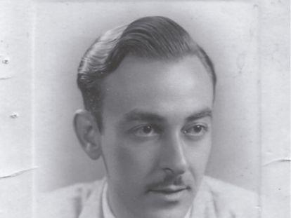 León de Huelves, esposo de Josefa de la Calle, en 1936.