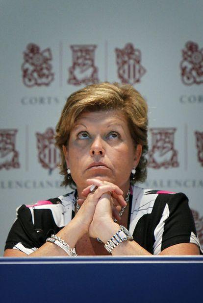 Milagrosa Martínez, presidenta de las Cortes valencianas<i>.</i>