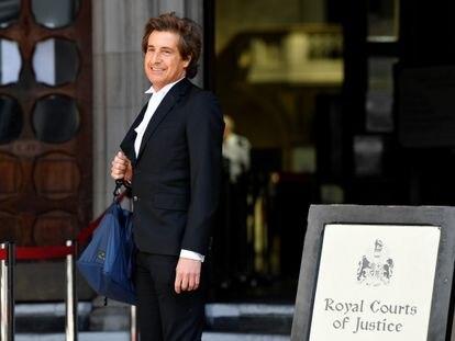 El abogado David Sherborne, a su llegada al juicio de Johnny Depp en Londres el pasado 28 de julio.