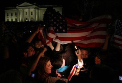 Celebraciones por la muerte de Osama Bin Laden en Washington