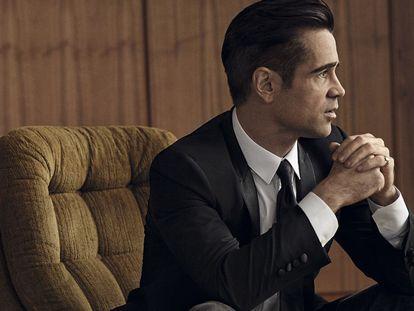 Colin Farrell posa en Londres en exclusiva para ICON vestido de Dolce & Gabbana.