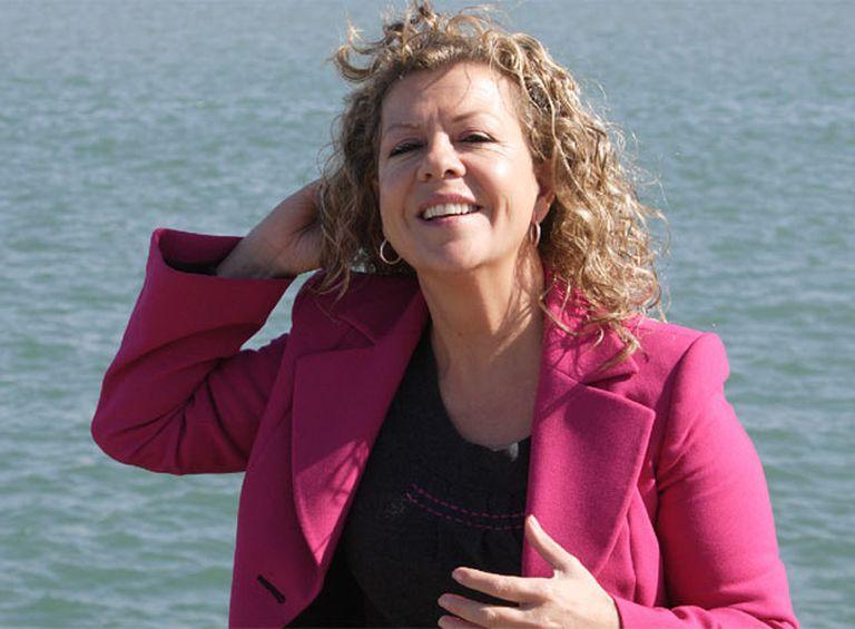 Ana Alonso Lorente, en el puerto de Cádiz.