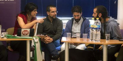La secretaria general de Podemos en Andalucía Teresa Rodríguez, durante la primera reunión del Consejo Ciudadano Andaluz del partido en Puente Genil (Córdoba).