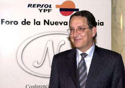Pedro Ferreras, ayer, entes de intervenir en una conferencia en Madrid.