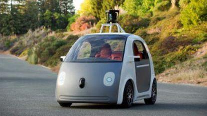 El Google Car ideado por Blad Templeton. Tiene una autonomía de 161 kilómetros y una velocidad máxima de 70 kilómetros hora.