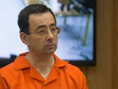 Larry Nassar, en el juicio en febrero.