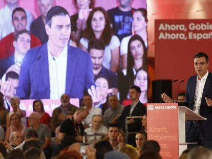 El secretario general del PSOE y presidente del Gobierno en funciones, Pedro Sánchez, en Granada, el pasado 8 de octubre.